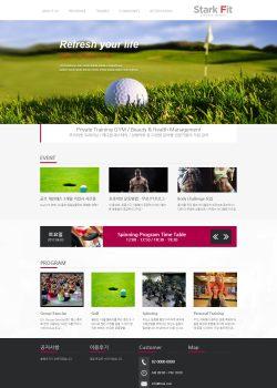 반응형 골프장 Stark Fit 워드프레스 홈페이지